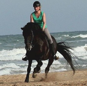 Riding at the sea in Andalusia