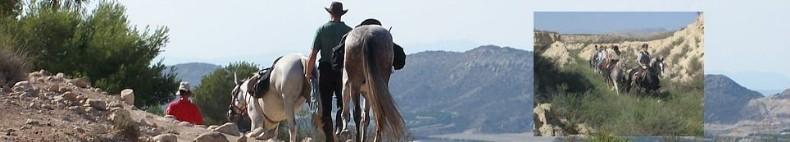 Riding in the Andalusian mountains